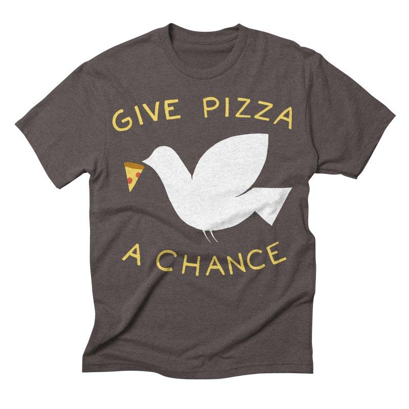 War and Pizza Men's Triblend T-shirt by mj's Artist Shop