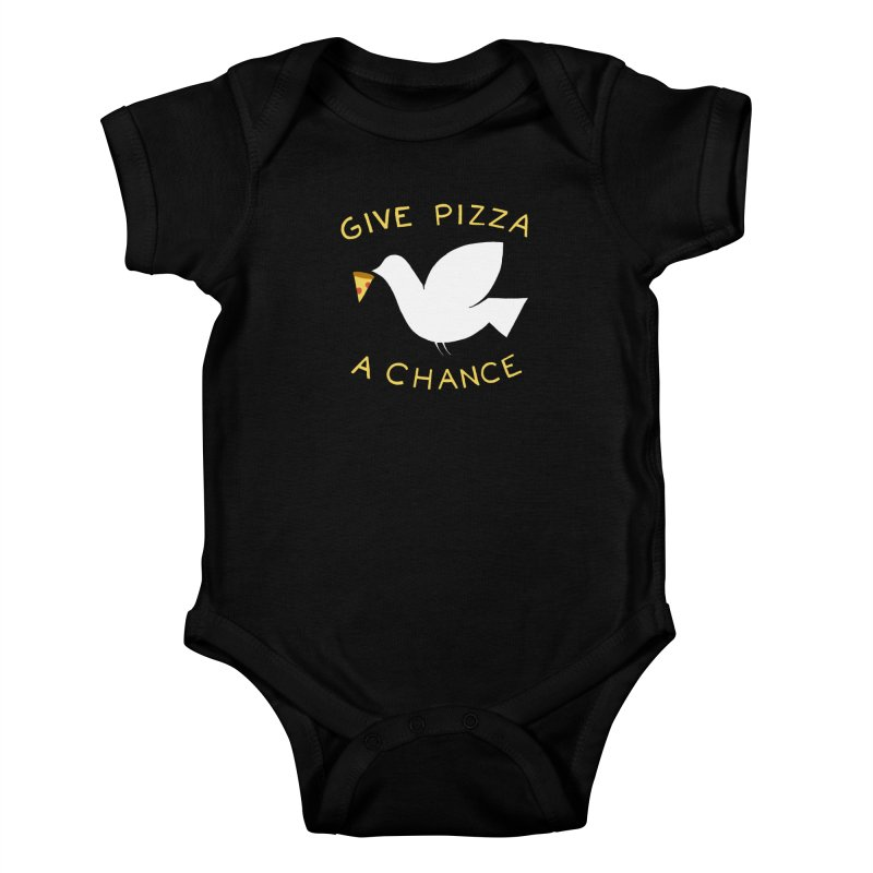 War and Pizza Kids Baby Bodysuit by mj's Artist Shop