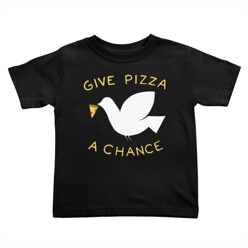 War and Pizza Kids Toddler T-Shirt by mj's Artist Shop