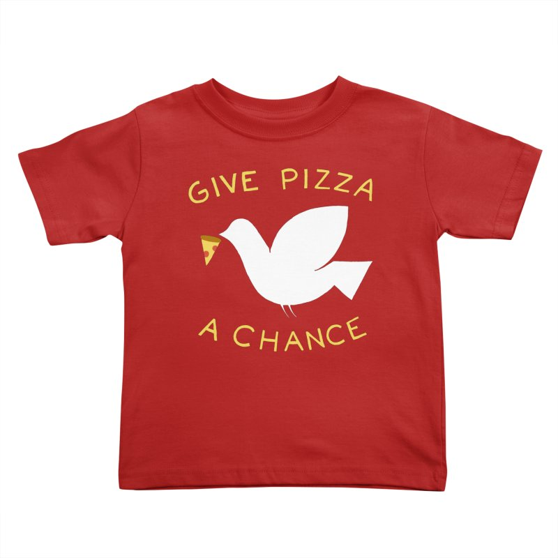 War and Pizza Kids Toddler T-Shirt by mj's Artist Shop