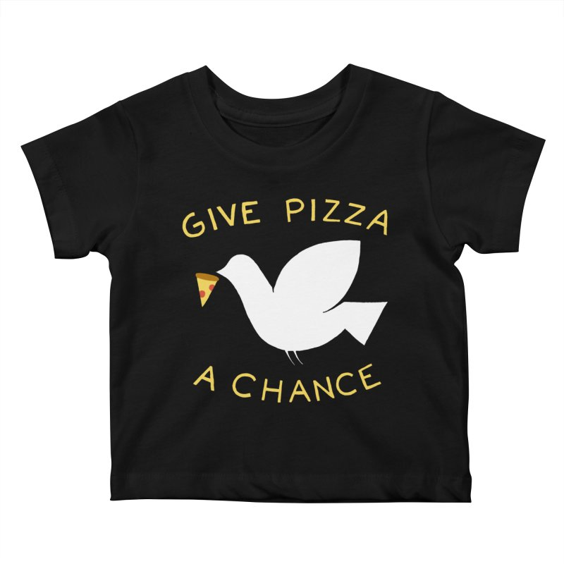 War and Pizza Kids Baby T-Shirt by mj's Artist Shop