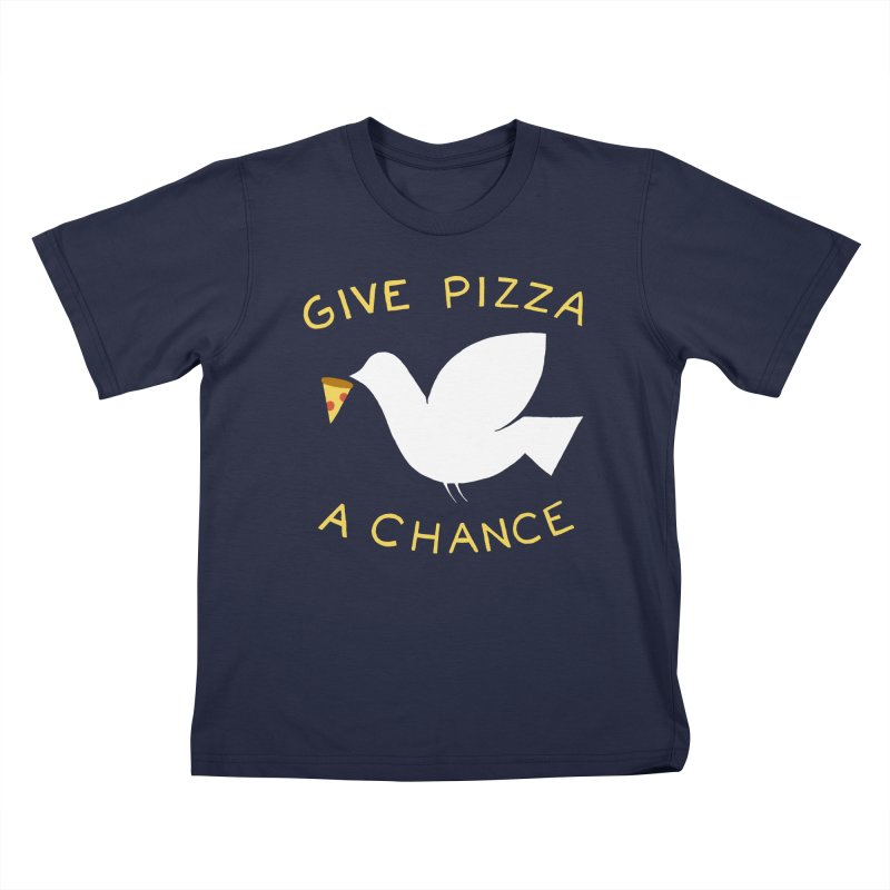 War and Pizza Kids T-Shirt by mj's Artist Shop