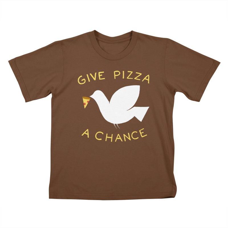 War and Pizza Kids T-Shirt by mj's Artist Shop