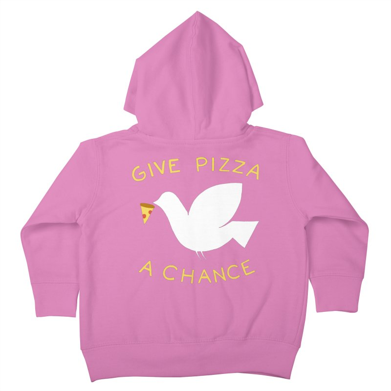War and Pizza Kids Toddler Zip-Up Hoody by mj's Artist Shop