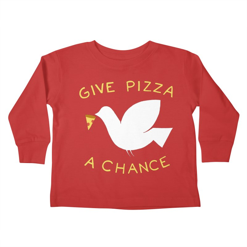 War and Pizza Kids Toddler Longsleeve T-Shirt by mj's Artist Shop