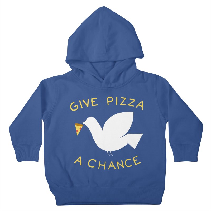 War and Pizza Kids Toddler Pullover Hoody by mj's Artist Shop