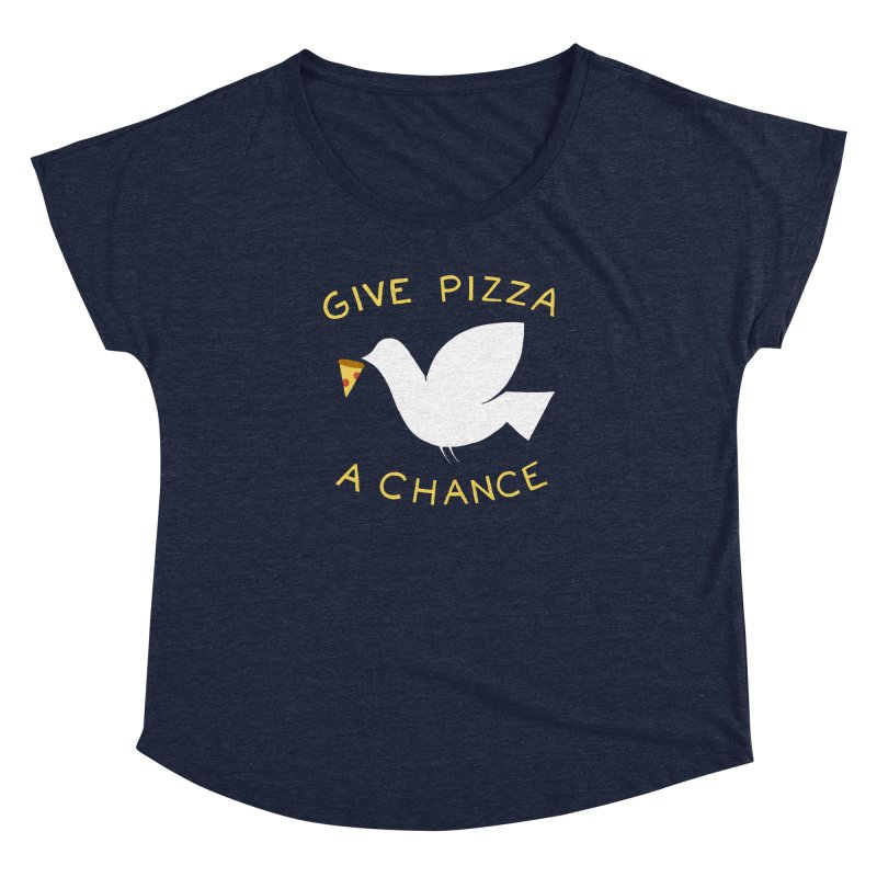 War and Pizza Women's Dolman Scoop Neck by mj's Artist Shop