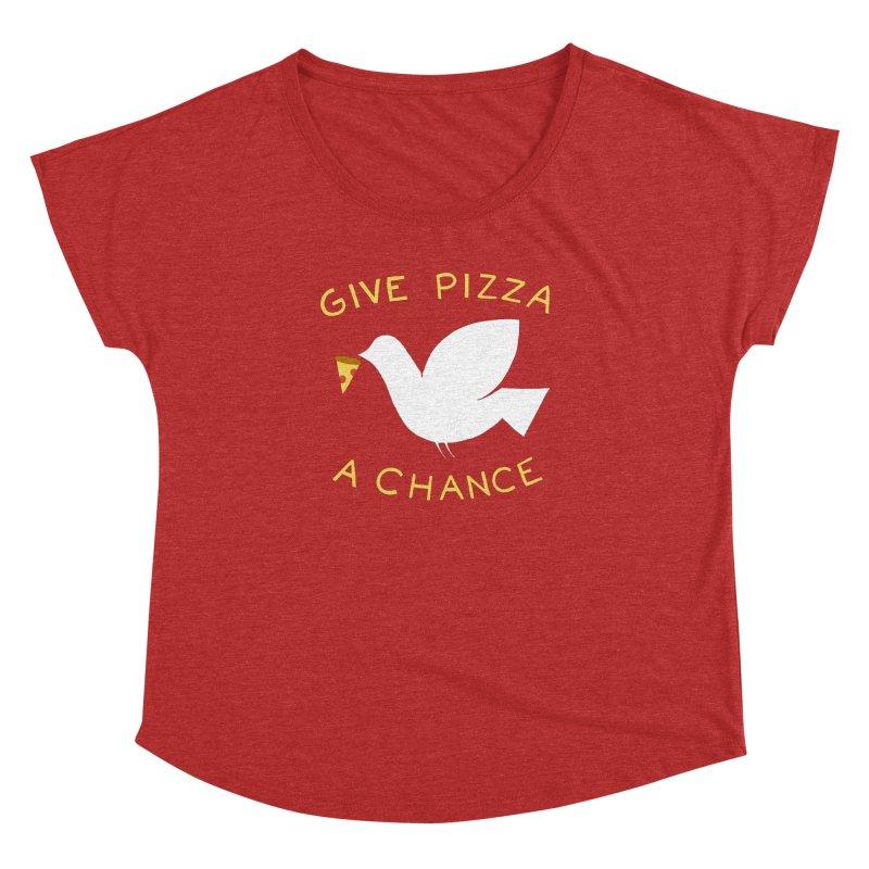 War and Pizza Women's Dolman Scoop Neck by mj's Artist Shop