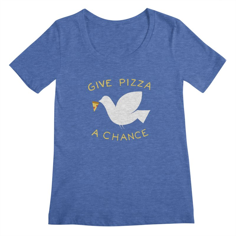 War and Pizza Women's Scoopneck by mj's Artist Shop