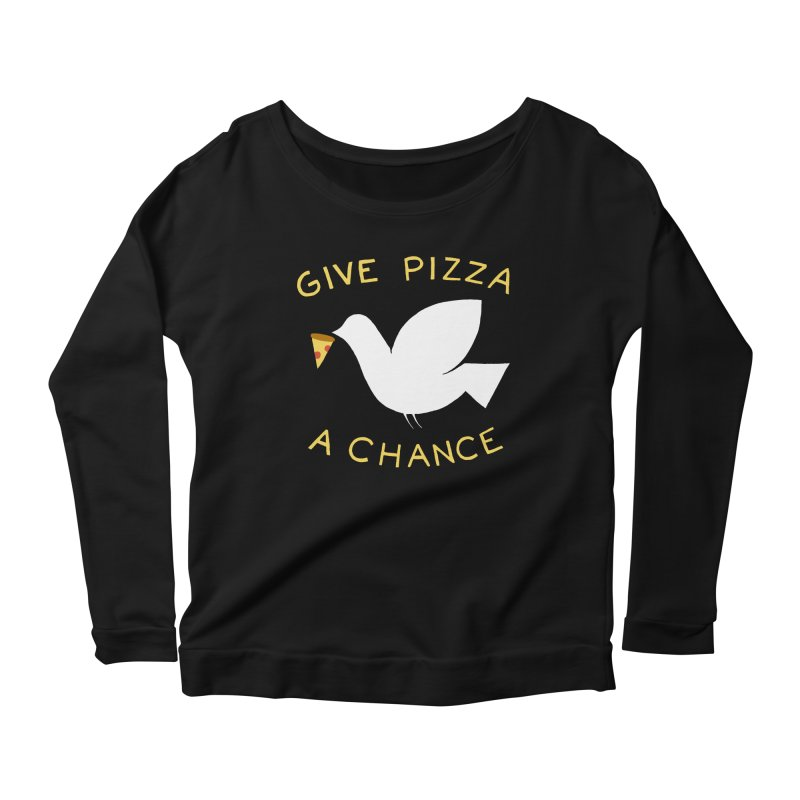 War and Pizza Women's Longsleeve Scoopneck  by mj's Artist Shop