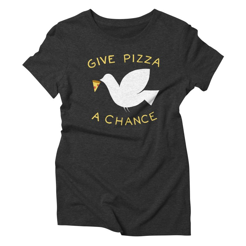 War and Pizza Women's Triblend T-Shirt by mj's Artist Shop