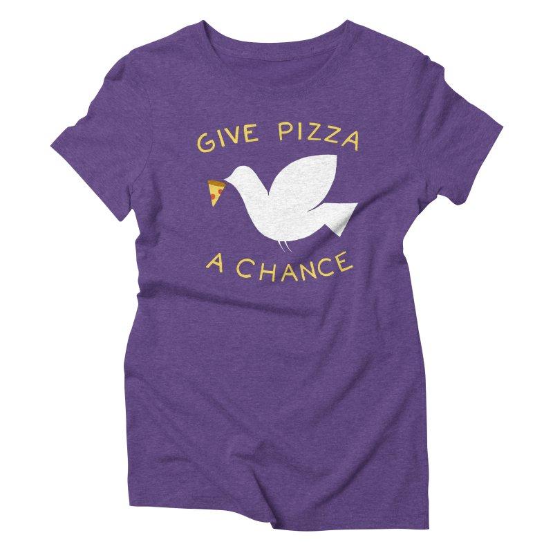 War and Pizza Women's Triblend T-Shirt by mj's Artist Shop