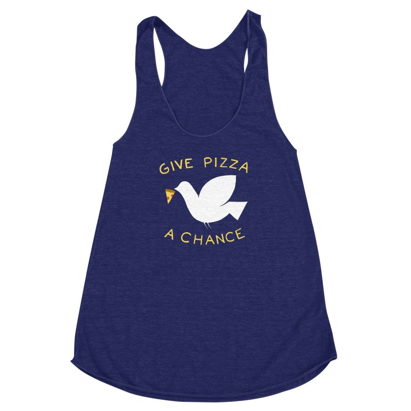 War and Pizza Women's Racerback Triblend Tank by mj's Artist Shop