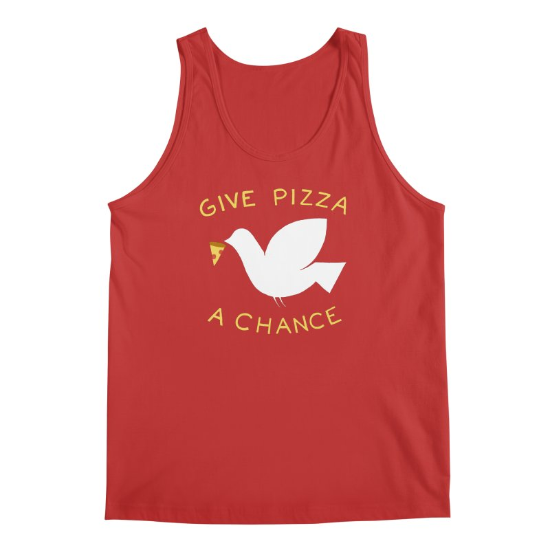 War and Pizza Men's Tank by mj's Artist Shop
