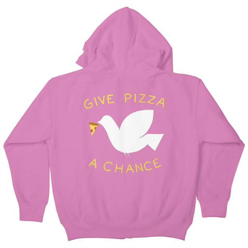 War and Pizza Kids Zip-Up Hoody by mj's Artist Shop