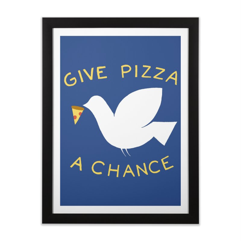 War and Pizza Home Framed Fine Art Print by mj's Artist Shop