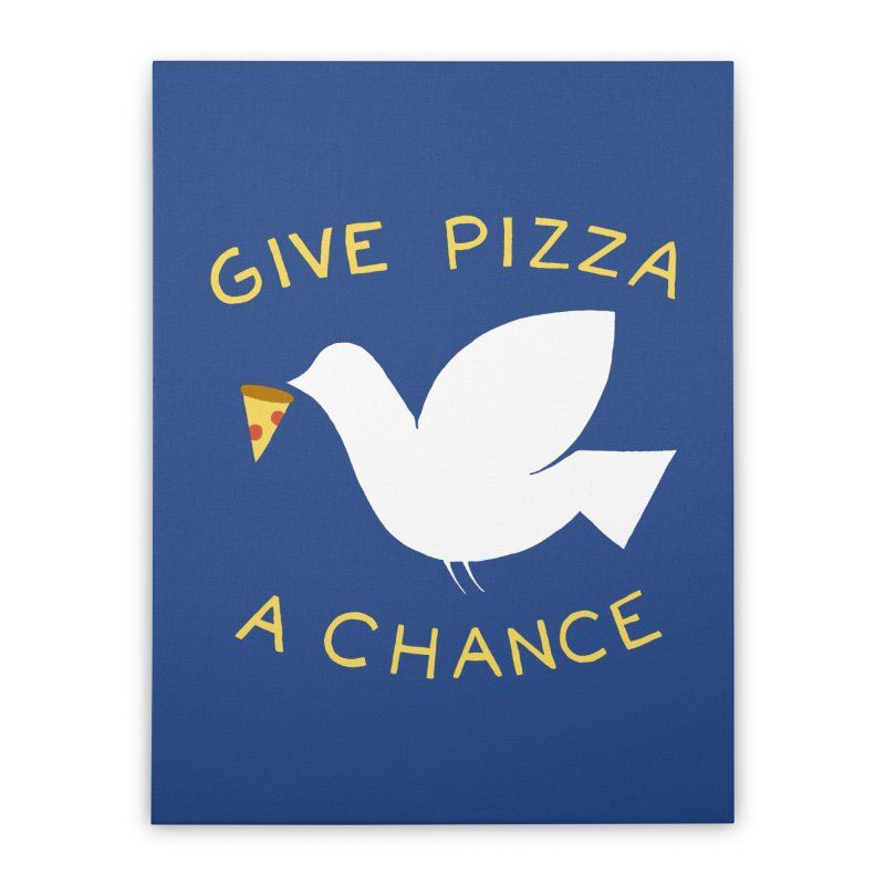 War and Pizza Home Stretched Canvas by mj's Artist Shop