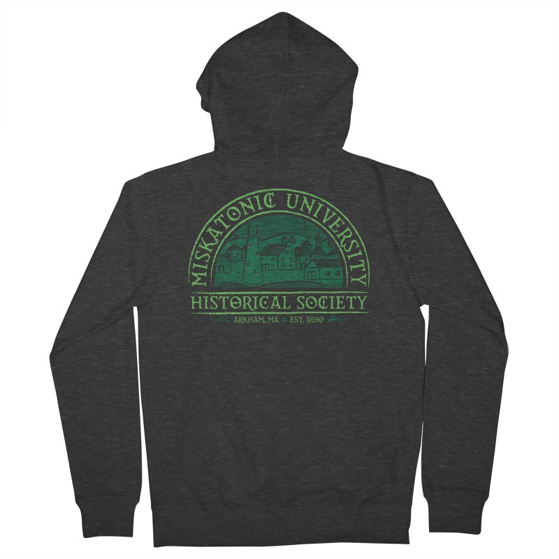 Miskatonic Historical Society Men's French Terry Zip-Up Hoody by mj's Artist Shop