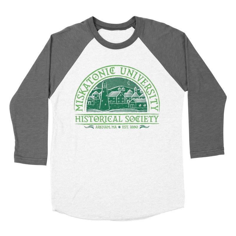 Miskatonic Historical Society Women's Baseball Triblend T-Shirt by mj's Artist Shop