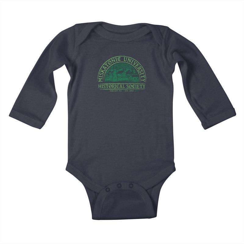 Miskatonic Historical Society Kids Baby Longsleeve Bodysuit by mj's Artist Shop