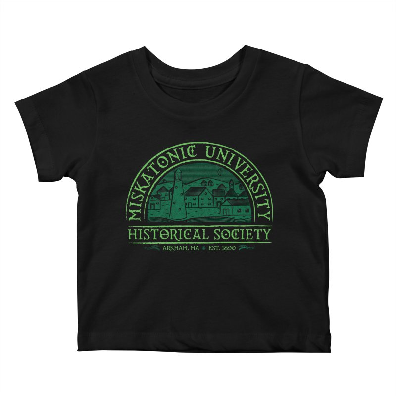 Miskatonic Historical Society Kids Baby T-Shirt by mj's Artist Shop