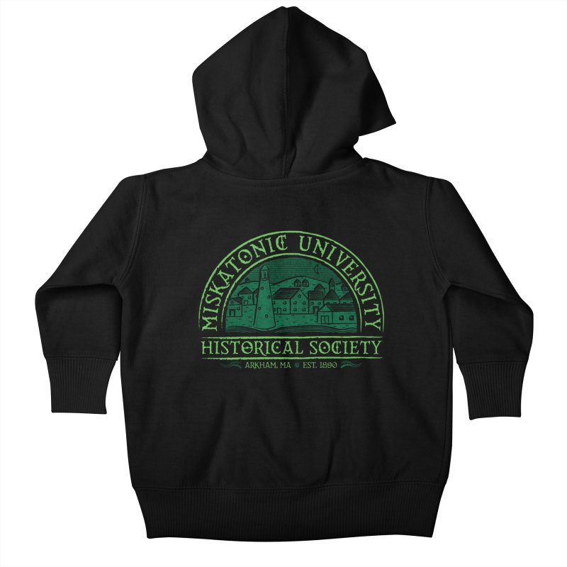 Miskatonic Historical Society Kids Baby Zip-Up Hoody by mj's Artist Shop