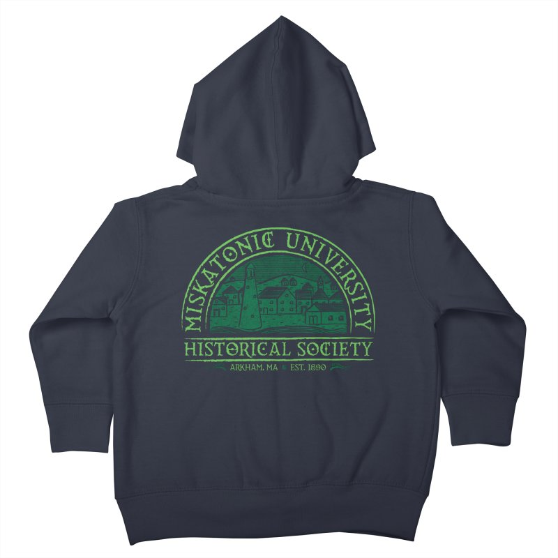 Miskatonic Historical Society Kids Toddler Zip-Up Hoody by mj's Artist Shop