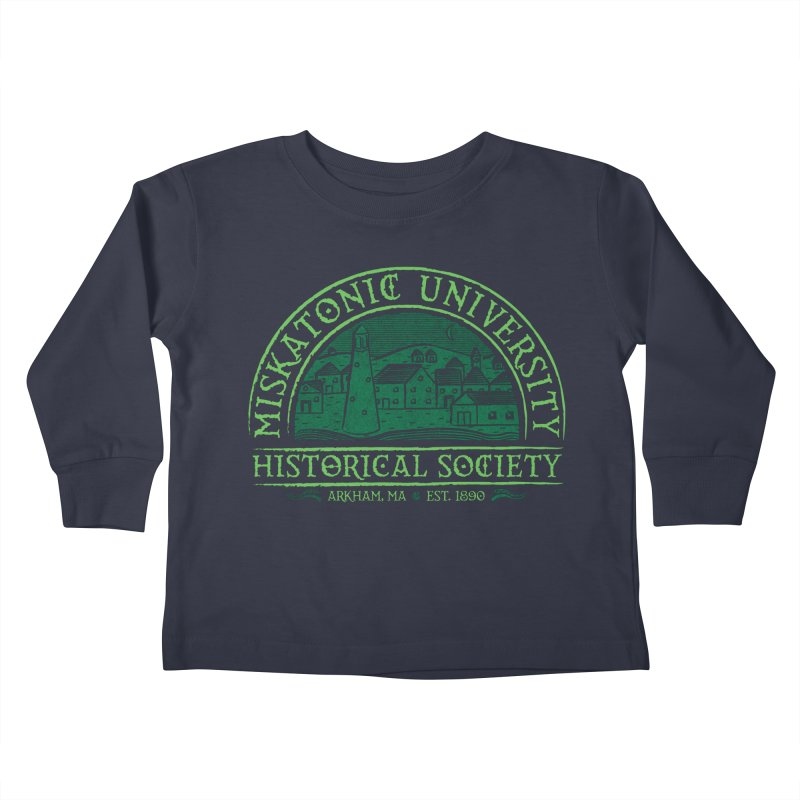 Miskatonic Historical Society Kids Toddler Longsleeve T-Shirt by mj's Artist Shop