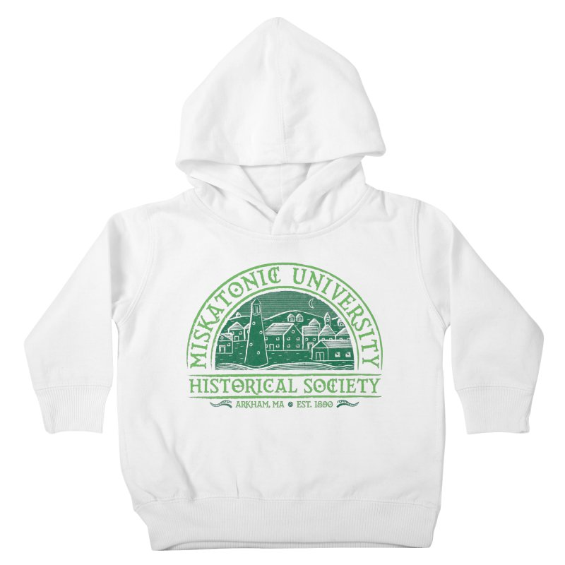 Miskatonic Historical Society Kids Toddler Pullover Hoody by mj's Artist Shop
