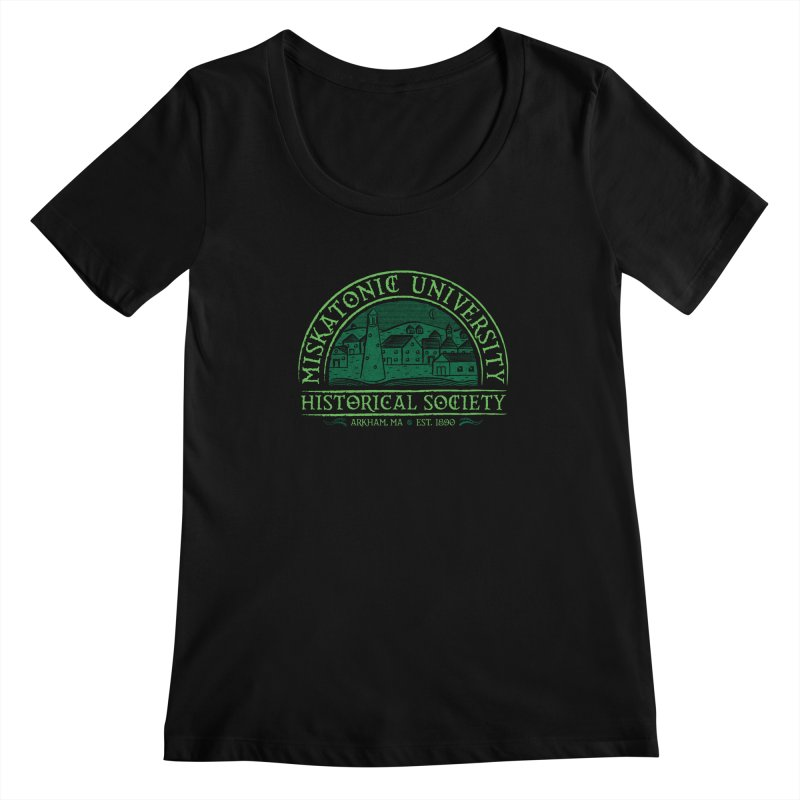 Miskatonic Historical Society Women's Scoopneck by mj's Artist Shop