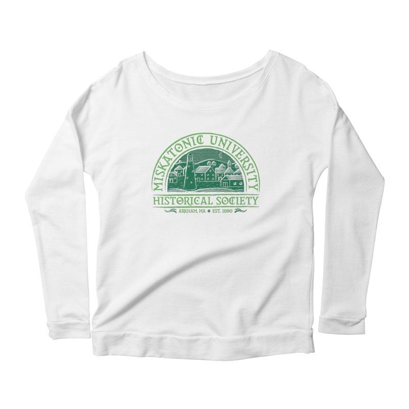 Miskatonic Historical Society Women's Scoop Neck Longsleeve T-Shirt by mj's Artist Shop