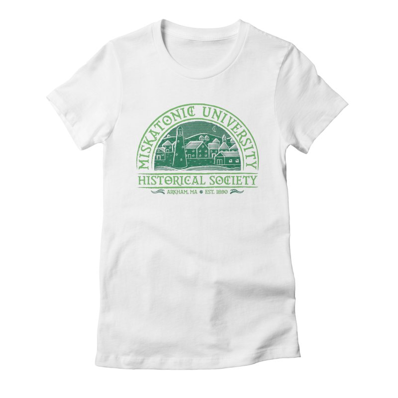 Miskatonic Historical Society Women's Fitted T-Shirt by mj's Artist Shop