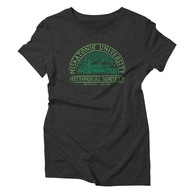 Miskatonic Historical Society Women's Triblend T-Shirt by mj's Artist Shop