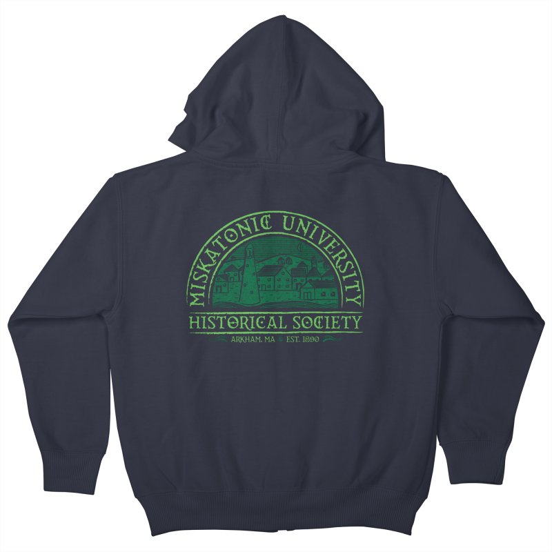 Miskatonic Historical Society Kids Zip-Up Hoody by mj's Artist Shop