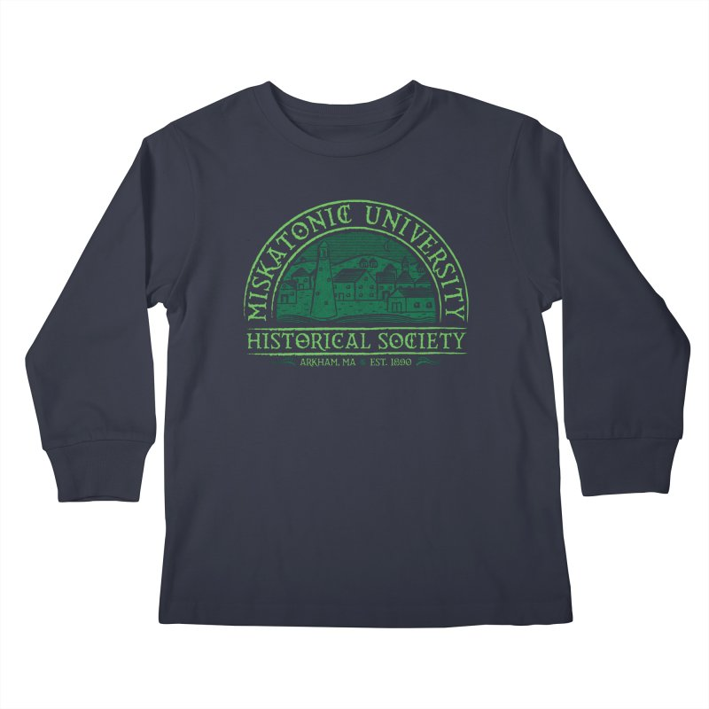 Miskatonic Historical Society Kids Longsleeve T-Shirt by mj's Artist Shop