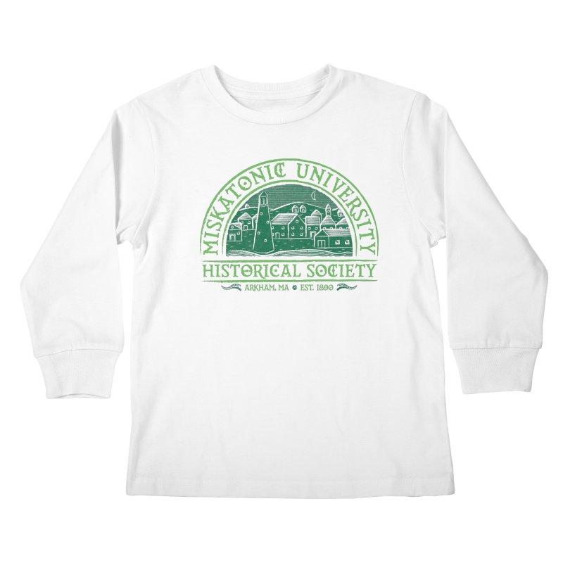 Miskatonic Historical Society Kids Longsleeve T-Shirt by mj's Artist Shop