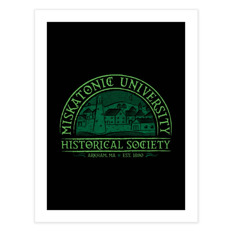 Miskatonic Historical Society Home Fine Art Print by mj's Artist Shop