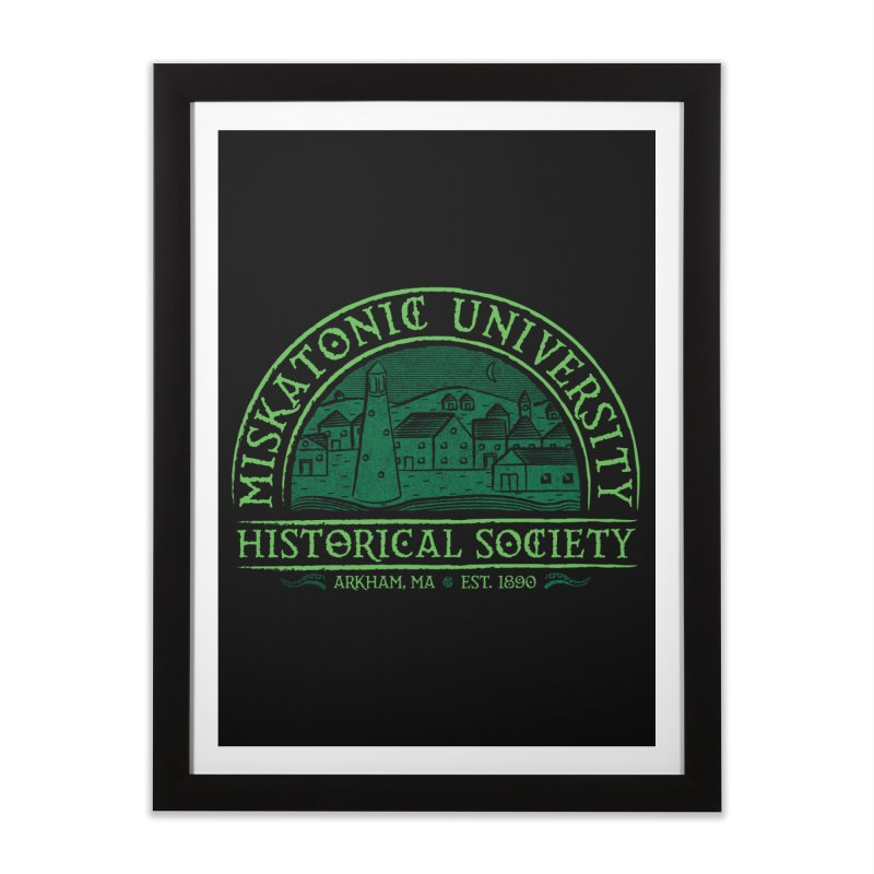 Miskatonic Historical Society Home Framed Fine Art Print by mj's Artist Shop