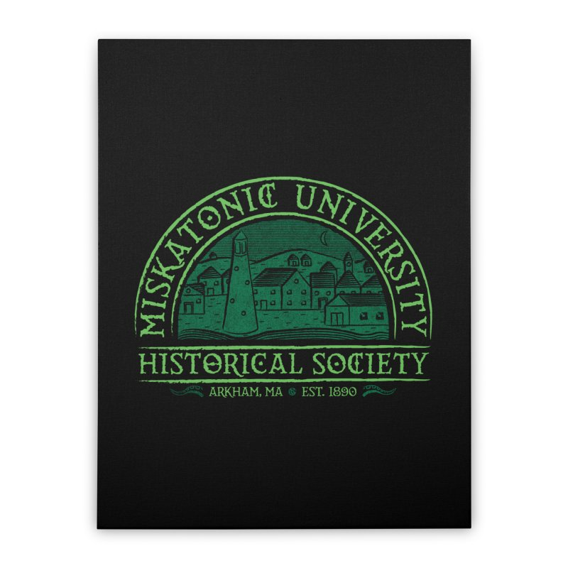 Miskatonic Historical Society Home Stretched Canvas by mj's Artist Shop