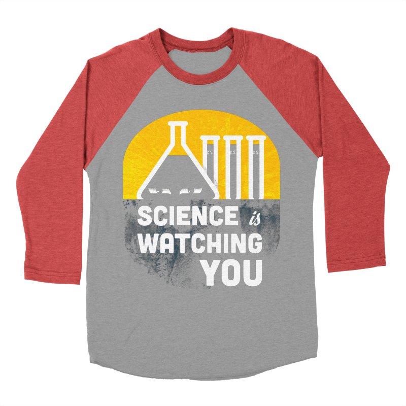 Science is Watching You Men's Longsleeve T-Shirt by mj's Artist Shop