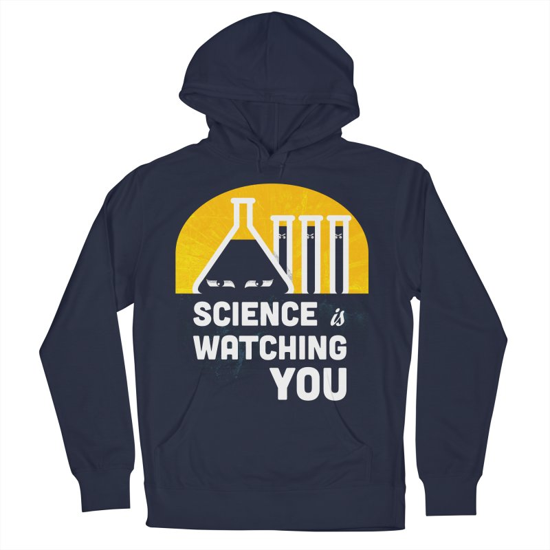 Science is Watching You Men's Pullover Hoody by mj's Artist Shop