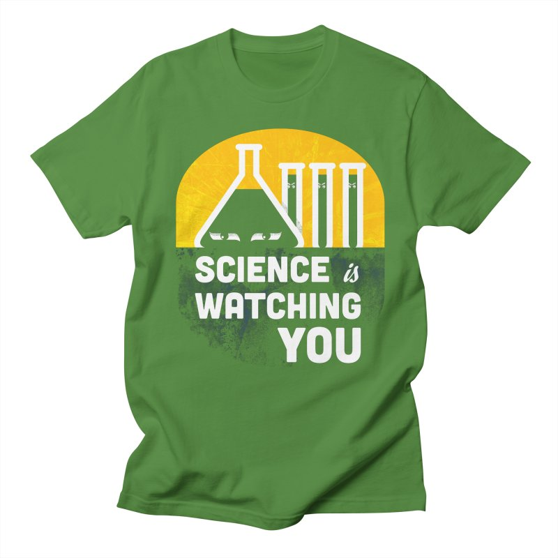 Science is Watching You Men's Regular T-Shirt by mj's Artist Shop