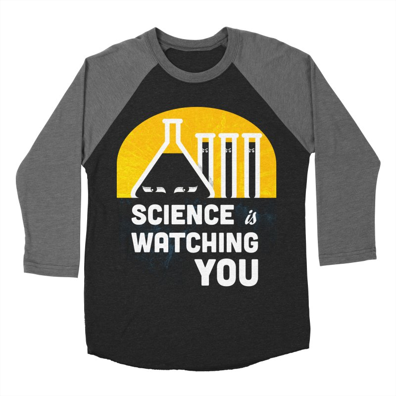Science is Watching You Men's Baseball Triblend Longsleeve T-Shirt by mj's Artist Shop