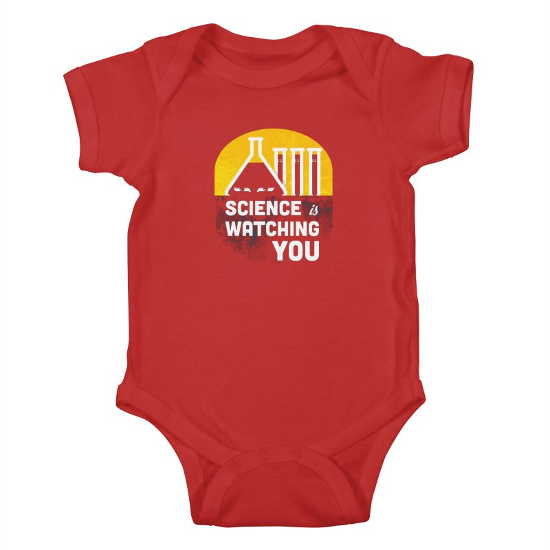 Science is Watching You Kids Baby Bodysuit by mj's Artist Shop