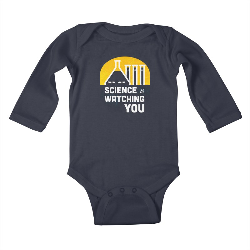 Science is Watching You Kids Baby Longsleeve Bodysuit by mj's Artist Shop