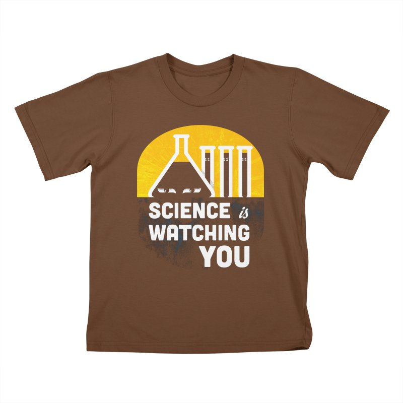 Science is Watching You Kids T-Shirt by mj's Artist Shop