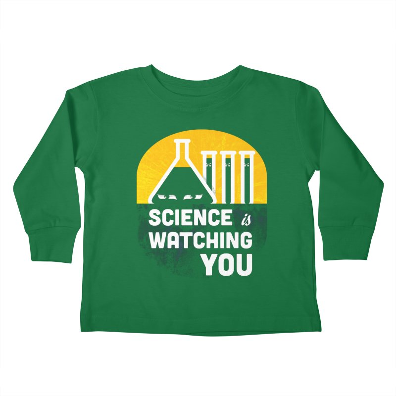 Science is Watching You Kids Toddler Longsleeve T-Shirt by mj's Artist Shop