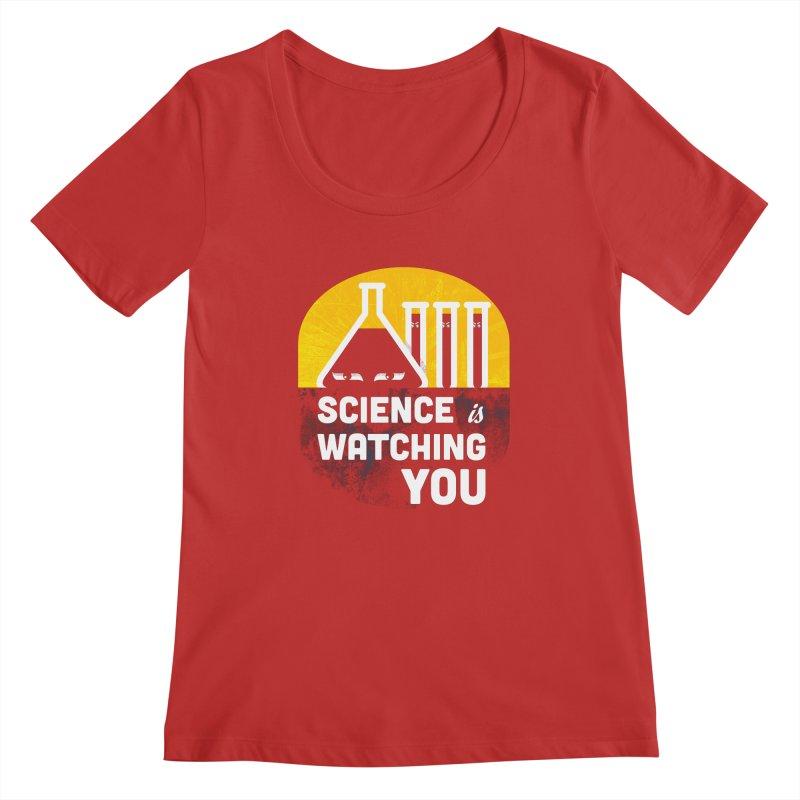 Science is Watching You Women's Scoopneck by mj's Artist Shop