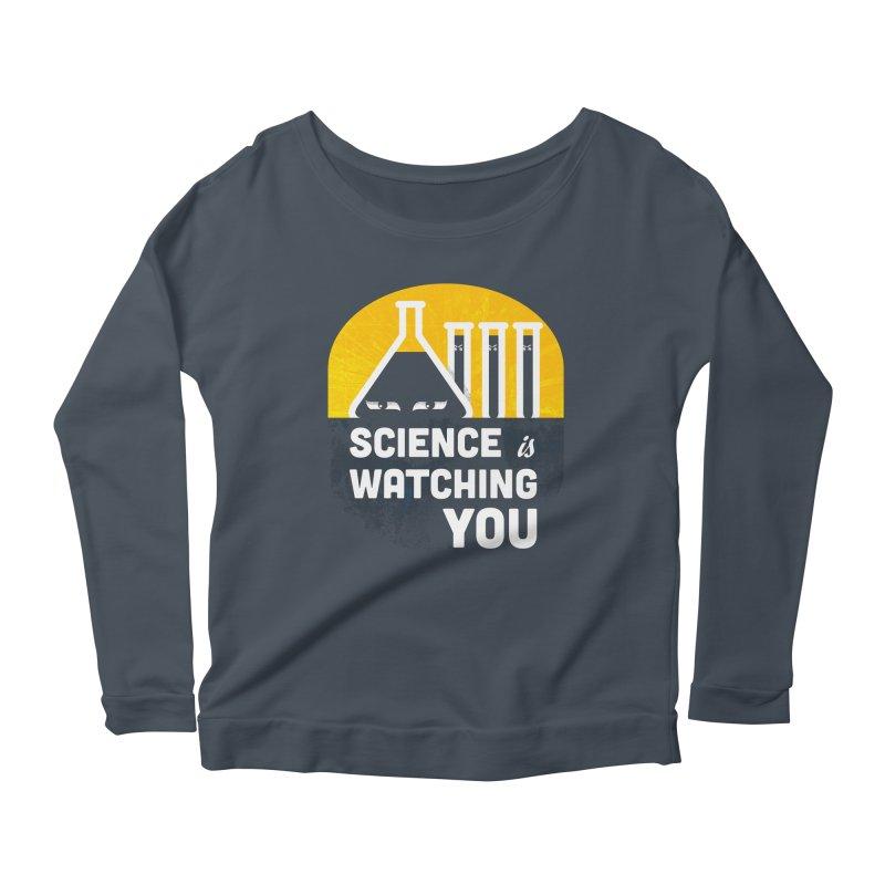 Science is Watching You Women's Scoop Neck Longsleeve T-Shirt by mj's Artist Shop