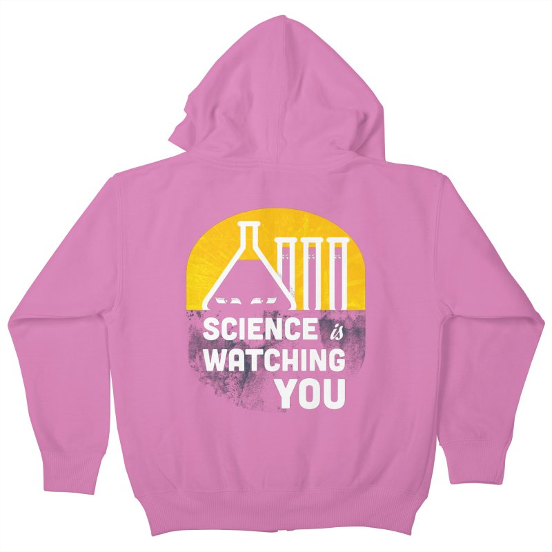 Science is Watching You Kids Zip-Up Hoody by mj's Artist Shop